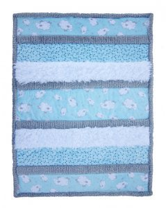 CKBambino Bambino Sleepytime Cuddle Kit Blue, White, & Grey