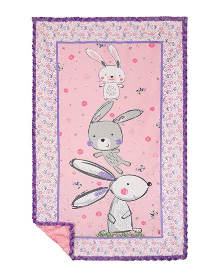 Bunny Ears CKSEWSIMPLE Cuddle Kit By Shannon Fabrics pink