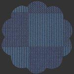 Allover Bartacks Denim Fabric, DEN-P-1008, blue, navy