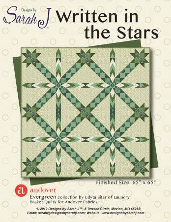 Written in the Stars Evergreen Designs by Sarah J