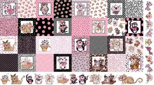 Medley Fancy Cats Panel 692-010