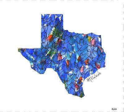 FL030 Texas and Bluebonnets Quilt block 9 x 10