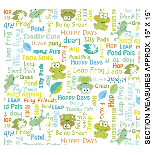 07936-09B Toadily Cute Words White, Toadily Cute Collection