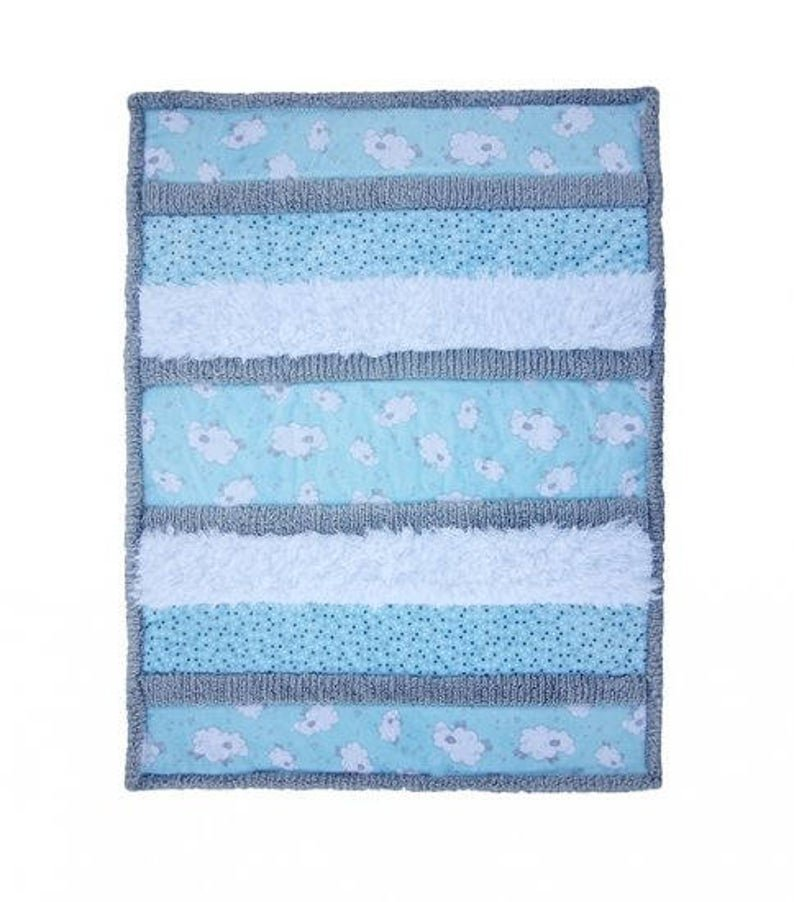 Bambino Cuddle Kit Sleepytime 28x37 by Shannon Fabrics blue and white