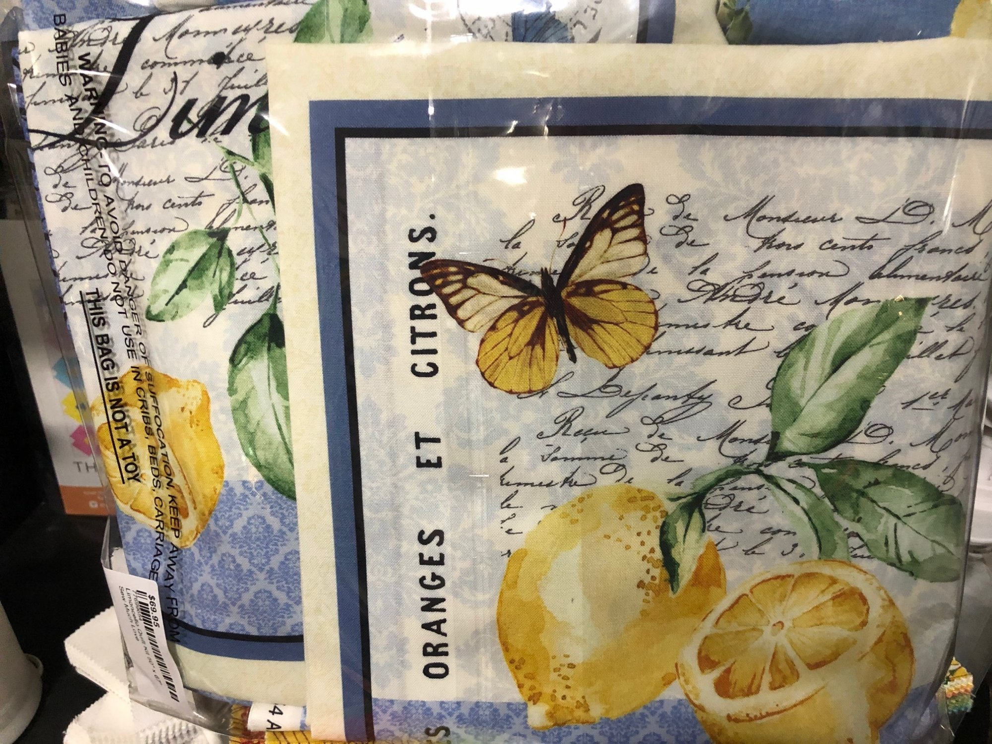 Limoncello Quilt Kit 50 x 70 With Backing & Binding