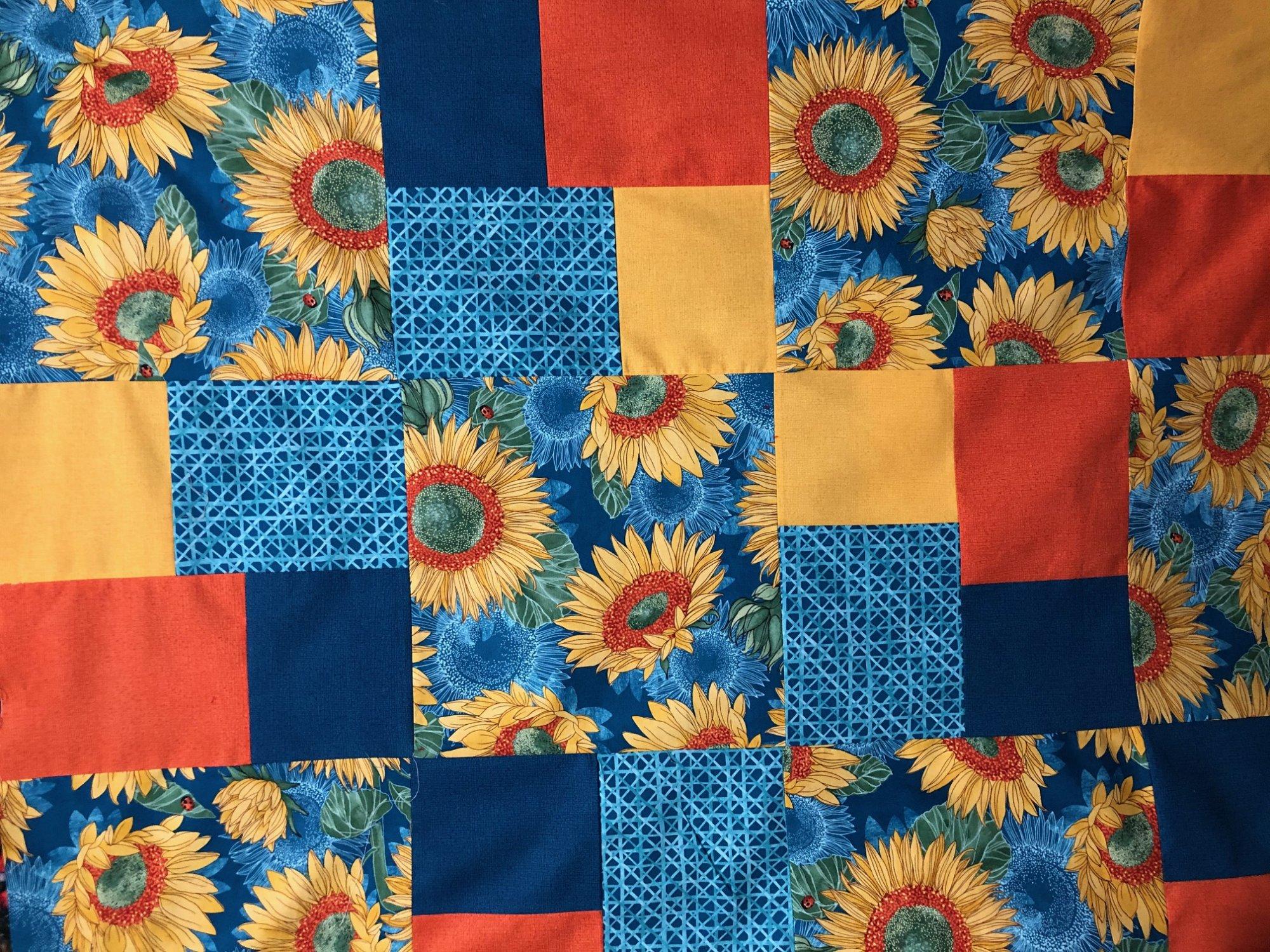 Salano in Tibet Quilt Kit 64 x 88 , Sunflowers