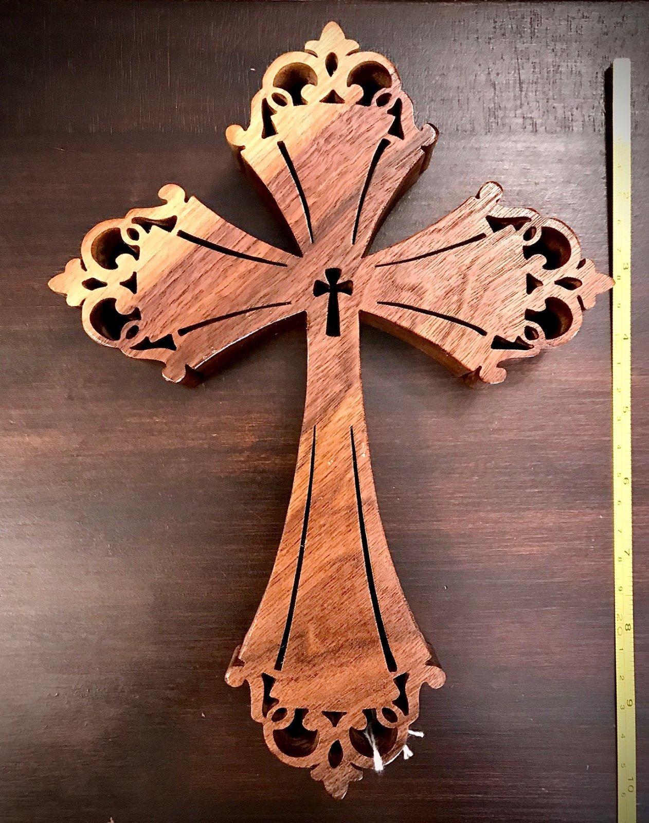 Cross & Cross in Center Wood 5 inch Ornament by Jo Ann Wiggs