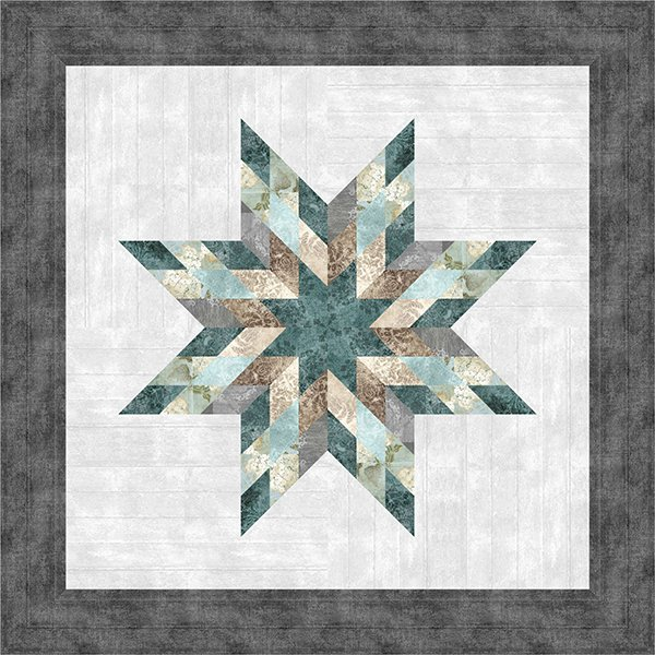 Farmhouse Star Quilt Kit 40 x 40, Judy Niemeyer Paper Piecing and McKenna Ryan Fabric