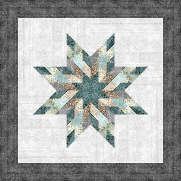Farmhouse Star Quilt Kit 40 x 40, Judy Niemeyer Paper Piecing and McKenna Ryan Fabric