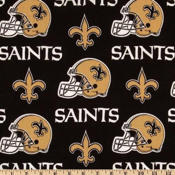 New Orleans Saints Black Cotton 60in