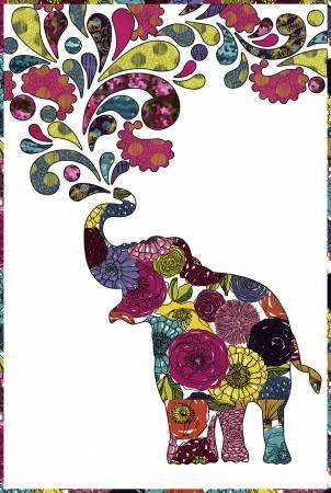 Paisley Splash Quilt Kit 22 x 32 52018QK, magenta, red, animals