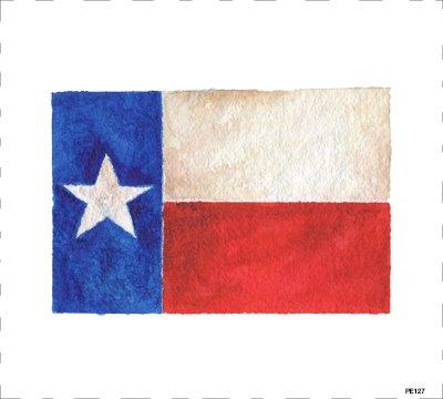 PE127 Texas Flag Quilt block 9 x 10