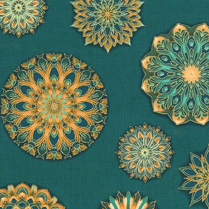 Teal from Terracina Collection:  AQSM-17680-213, teal and gold