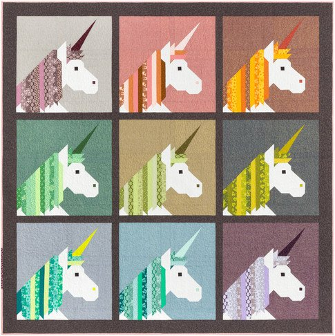 Lisa the Unicorn 90 x 90, Pattern by Elizabeth Hartman