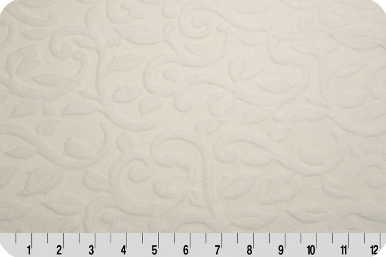 Embossed Vine Cuddle Ivory 58/60 inch wide , 100% Polyester - copy
