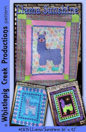 Llama Sunshine Applique Quilt by 36 42 by Whistlepig Creek