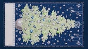 Winter's Granduer - blue Panel 24 x 42