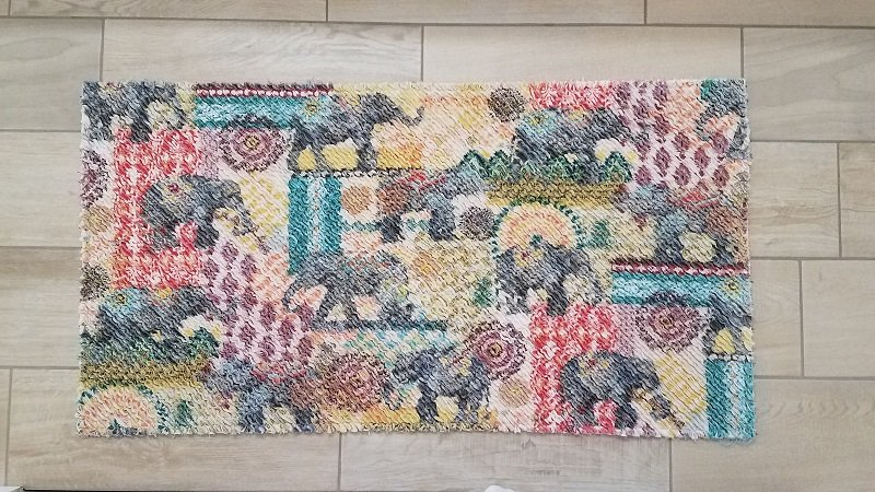 Chenille Rug Fabric Kit & Pattern