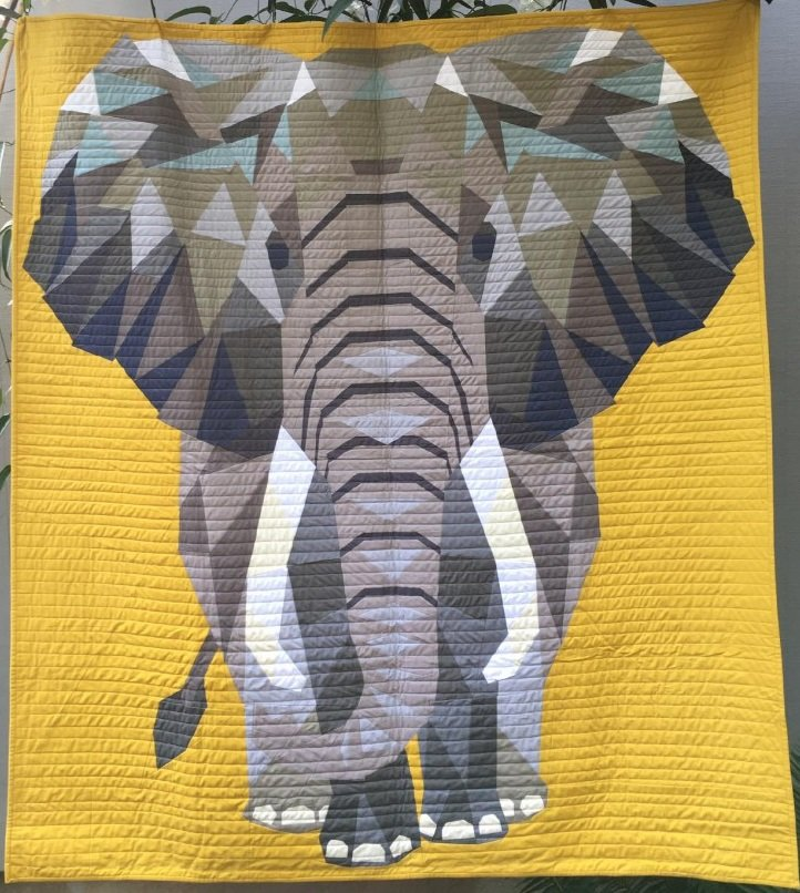 Elephant Abstractions Fabric Kit