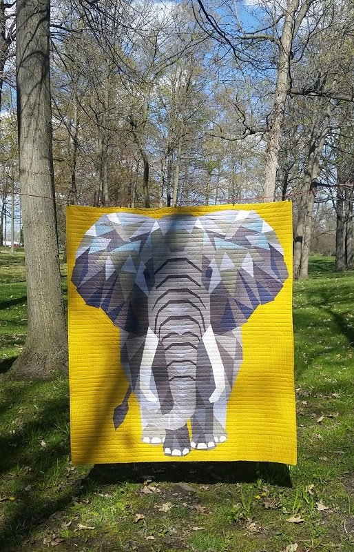 Elephant Abstractions Fabric Kit & Pattern