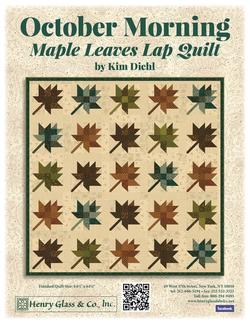 Maple Leaves Fabric Kit 64.5 x 64.5