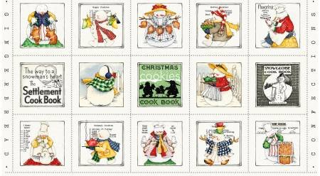 Snow Sweet Christmas Cooks Panel 24in