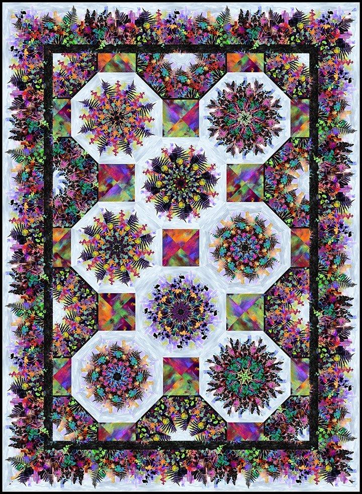 Urban Jungle One- Fabric Kaleidoscope Kit & Pattern