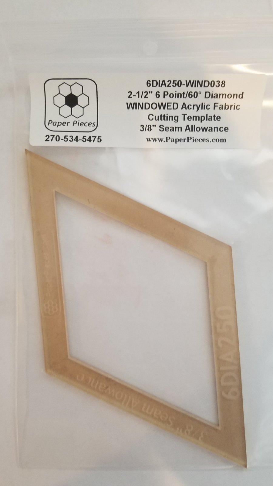 6 Pointed Diamond Acrylic Windowed Template