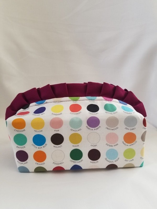 Ruffled Zipper Pouch Kit