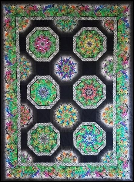 Safari -One Fabric Kaleidoscope Quilt