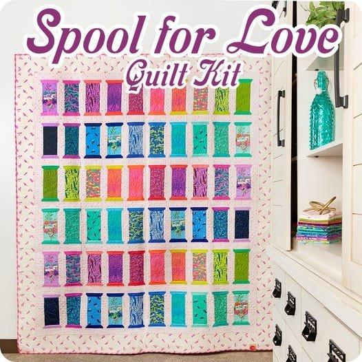 HomeMade Spool for Love Quilt Kit