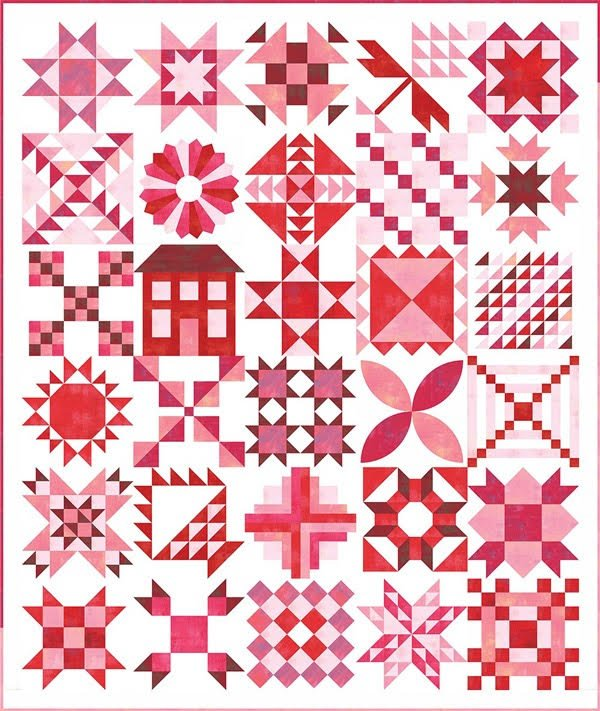 Stitch Pink Sampler Fabric Kit