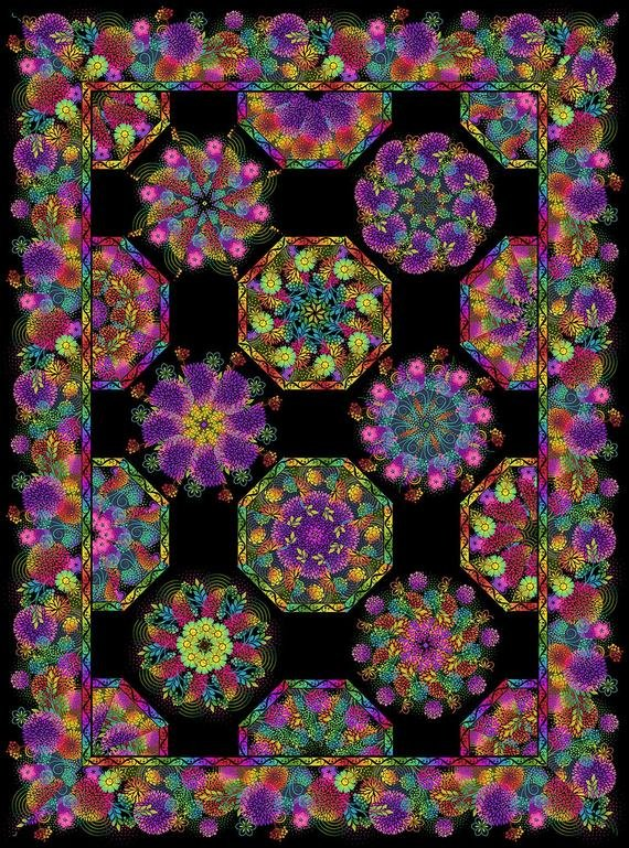 Unusual Garden II Kaleidoscope Kit - Black