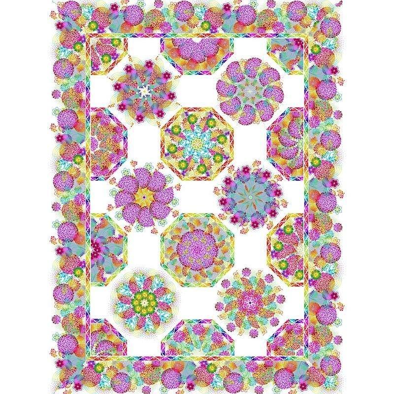 Unusual Garden II Kaleidoscope Kit- White