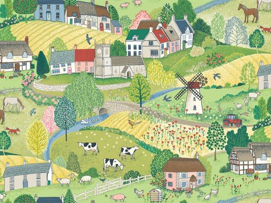 Village Life Farm Scene