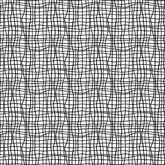 Tuxedo Wavy Grid White