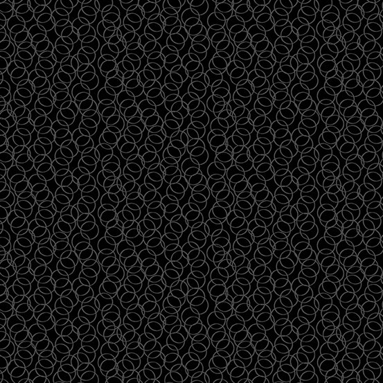 Century Black on Black Fabric by Andover