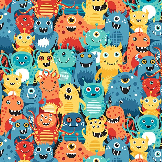 Outer Space Monsters Bright