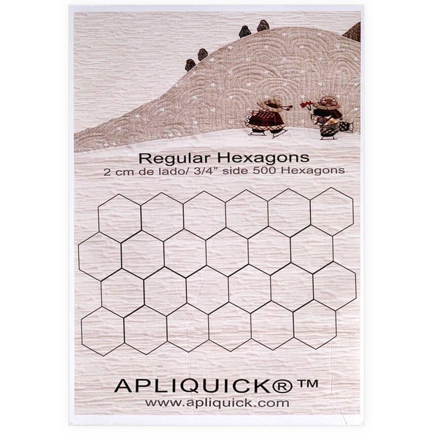 Apliquick Regular Hexigons 3/4