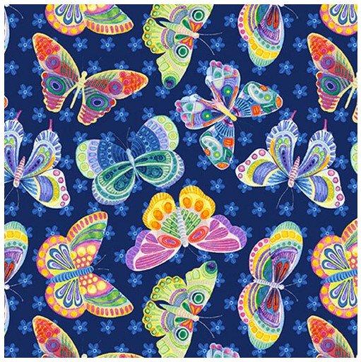 Wonderland Butterfly Ditsy Navy