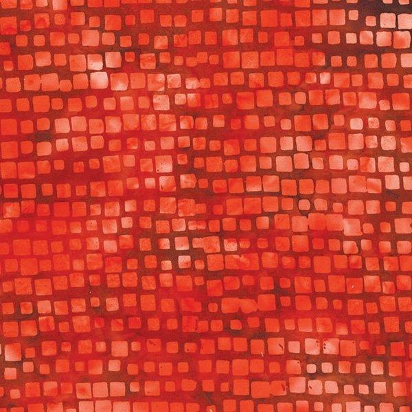 Hoffman Batik Square Stripe Cherry