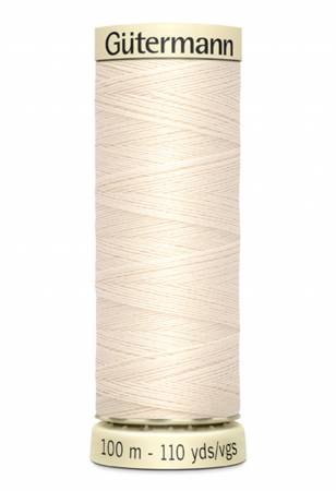 Sew-all Polyester All Purpose Thread 100m/109yds Eggshell