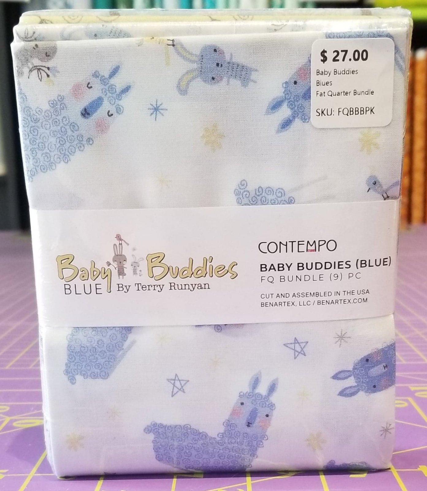 Baby Buddies Blues Fat Quarters 9pcs