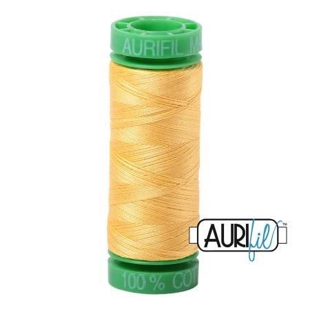 Aurifil Mako Cotton Thread 40wt 164yds Pale Yellow