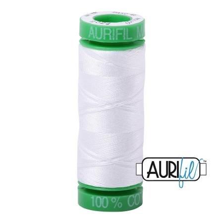 Aurifil Mako Cotton Thread 40wt 164yds White