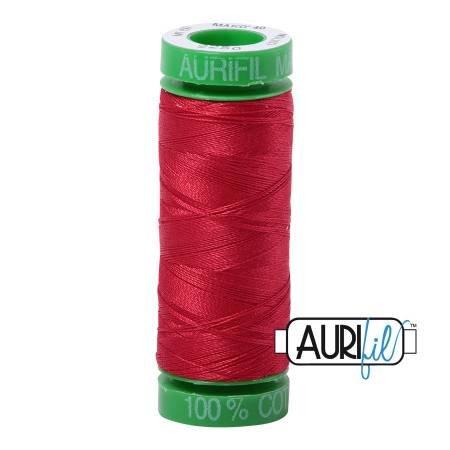 Aurifil Mako Cotton Thread 40wt 164yds Red