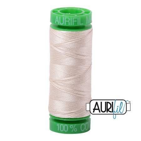 Aurifil Mako Cotton Thread 40wt 164yds Light Beige