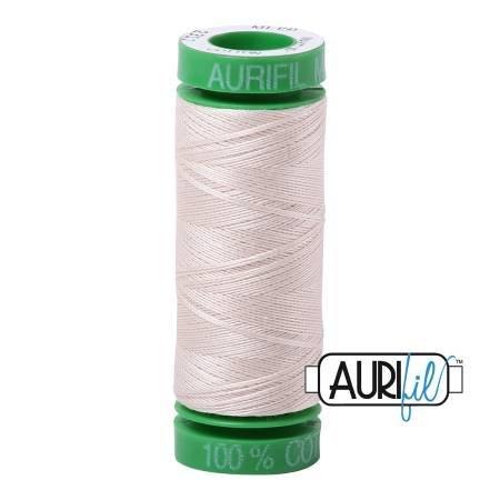 Aurifil Mako Cotton Thread Solid 40wt 164yds Muslin
