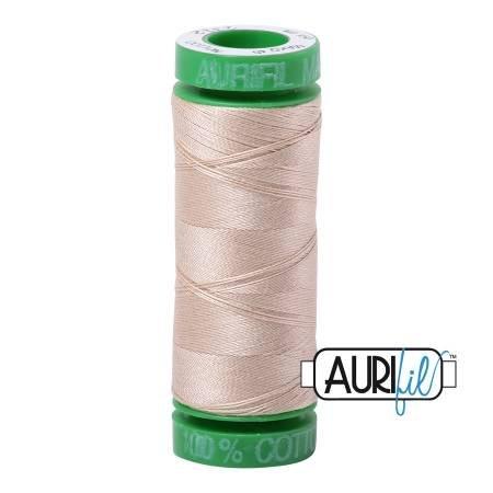 Aurifil Mako Cotton Thread Solid 40wt 164yds Ermine