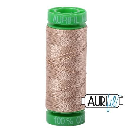 Aurifil Mako Cotton Thread 40wt 164yds Sand